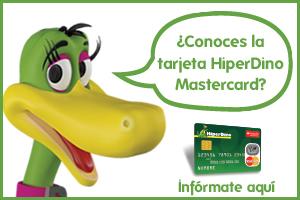 Con la tarjeta HiperDino MasterCard todo son ventajas.